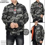 Jaket Bomber Pria Loreng Army Fashion Terbaru Dan Terlaris Jaket Bomber 2In 1 Murah Di Indonesia