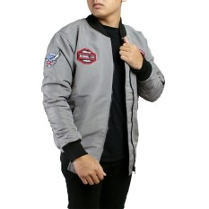 Jual Jaket Bomber Pria Rebel Id World Domination Abu