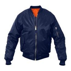 Spesifikasi Jaket Bomber Slimfit Biru Lengkap Dengan Harga