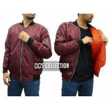 Jual Beli Jaket Bomber Taslan Waterproof Maroon In Orange