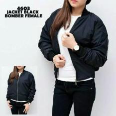 Model Jaket Bomber Wanita Black Terbaru