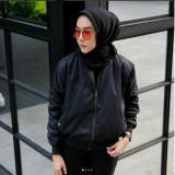 Spesifikasi Jaket Bomber Wanita Black Lengkap