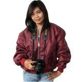 Jaket Bomber Wanita Maroon Jawa Barat