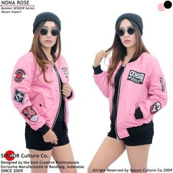 Price Checker Jaket Bomber Wanita Sensor Mayer Pink pencari harga - Hanya Rp205.200