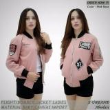 Beli Jaket Bomber Wanita X Urband Pink Rose Murah Jawa Barat