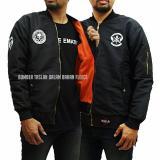 Beli Jaket Boomber Logo Taslanwaterproof Premium Black Cicil