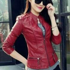 Harga Jaket Casual Wanita Semi Kulit Style Korea Jaket Wanita Baru