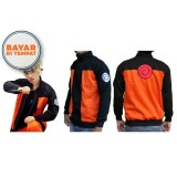 Harga Jaket Cosplay Anime Naruto Shippuden Jr Nrt 04 Best Seller Black Orange New