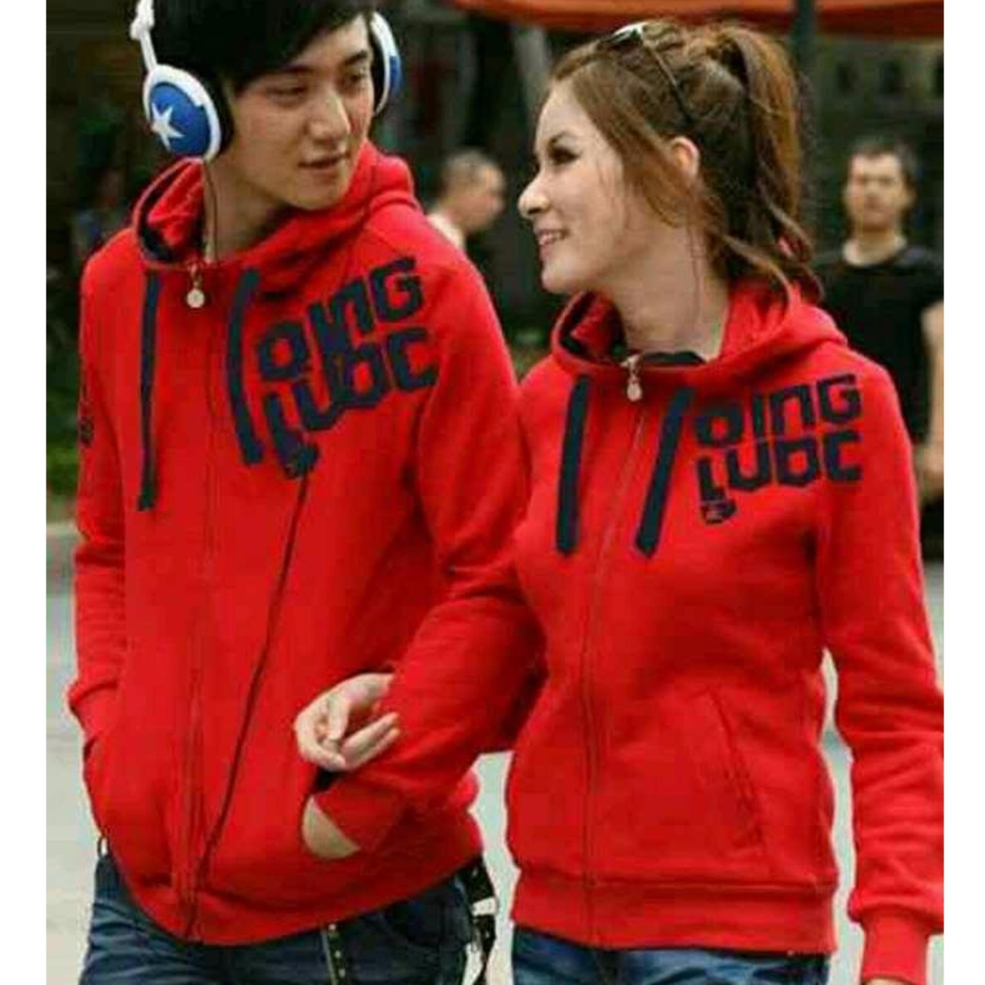 Jaket Couple QING LUOC ( Merah )