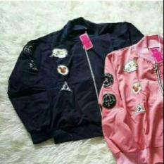 Review Jaket Crew Bomber Pink Knzbl Multi