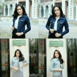 Jaket Crop Light Blue Jacket Jeans Wanita Indonesia Diskon 50