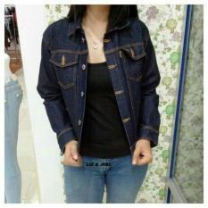 Spesifikasi Jaket Denim Jaket Jeans Wanita Blue Garment Biru Dongker Jaket Wanita Terbaru