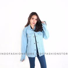 Beli Jaket Denim Jeans Cewe Oversize Regular Bioblits Jawa Barat
