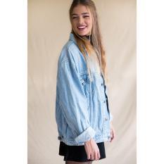 Jaket Denim Oversize Wanita Jeans Oversize Bioblitz Terbaru