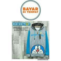 Jaket Doraemon Grey Blue Hoodie Best Seller Original