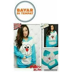 Harga Jaket Doraemon Kantong Ajaib Blue Hoodie Best Seller Yang Murah