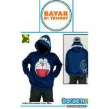 Harga Jaket Doraemon Navy Hoodie Best Seller Original