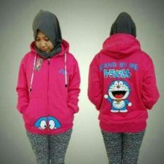 Jaket Doraemon Pink Zipper Hoodie Best Seller Asli