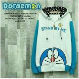 Jaket Doraemon White Turquoise Hoodie Best Seller Jmm Murah Di Jawa Barat
