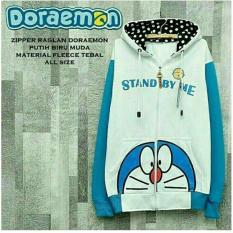 Harga Jaket Doraemon White Turquoise Hoodie Best Seller Jawa Barat