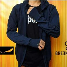 Jaket Fleece Premium - Jaket Sweater Rajut Ariel Greenlight - Navy - 36763B