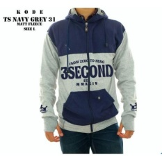 Jaket Fleece / Sweater / 3 Second Navy - Abu