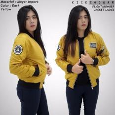 Jaket Flight Bomber Ladies Kicksoogar Kuning Jawa Barat