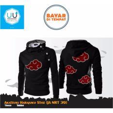 Jual Beli Online Jaket Harajuku Akatsuki Awan Merah Naruto Anime Ninja Akatsuki Best Seller Black
