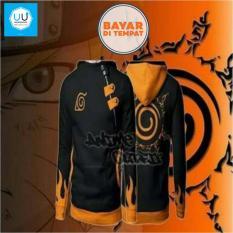 Beli Jaket Harajuku Hoodie Anime Naruto Style Kyuubi Seal Hoodie Black Murah Jawa Barat