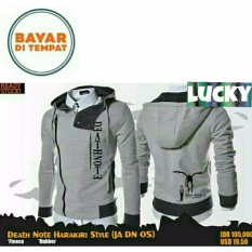 Review Jaket Harakiri Hoodie Zipper Anime Death Note Best Seller Grey Jawa Barat