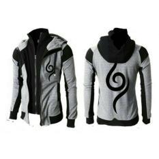 Daftar Harga Jaket Hoodie Anbu Double Zipper Jaket Ninja Naruto Kakashi Sasuke Sakura Best Seller Grey Black Jmm