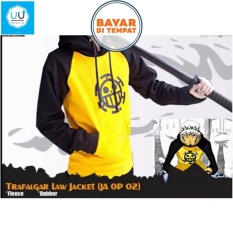 Katalog Jaket Hoodie Anime Trafalgar Law One Piece Yellow Black Oem Terbaru