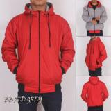 Diskon Jaket Hoodie Bb Red Grey Lucky