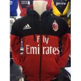 Harga Jaket Hoodie Bola Milan K 421P Milanisti Home Hitam Merah Kombinasi Original
