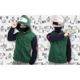 Toko Jaket Hoodie Cosplay Jounin Kakashi Anime Naruto Ja Nrt 67 Best Seller Green Black Terlengkap Di Jawa Barat
