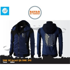 Harga Jaket Hoodie Double Zipper Anime Attack On Titan Ja Snk 34 Best Seller Navy Black Paling Murah