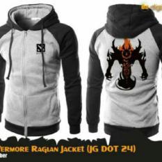 Jaket Hoodie Game Dota2 Nevermore Raglan Black/Grey (JG DOT 24)