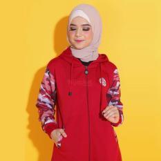 Perbandingan Harga Jaket Hoodie Hijacket Wanita Cewek Warna Merah Marun Army Hj Cf Ruby Di Indonesia
