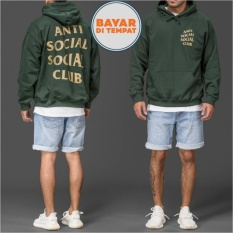 Jaket Hoodie Jumper Anti Social Social Club Best Seller - Hijau Army