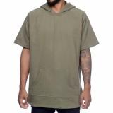 Jual Beli Online Jaket Hoodie Lengan Pendek Short Sleeve Hoodie Green Army