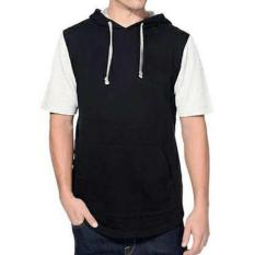 Pusat Jual Beli Jaket Hoodie Lengan Pendek Short Sleeve Hoodie Raglan Black White Indonesia