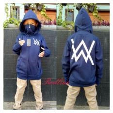 jaket hoodie ninja alan walker anak-navy