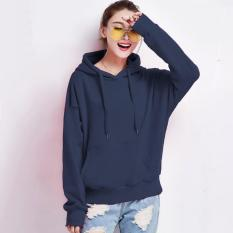 Jaket Hoodie Tangan Panjang Wanita dewasa Variasi Topi dan kantong Kangguru - Carlisa