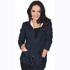 Jaket Hoodie Wanita Cewek Cewe Jacket Trendy Warna Biru Navy DI 051 CZ