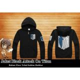 Jaket Hoodie Zipper Anime Attack_on_Titan Jaket AoT Best Seller - Black | Lazada Indonesia