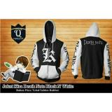 Promo Jaket Hoodie Zipper Anime Death Note Style Kira Best Seller Black White Murah