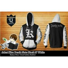 Beli Jaket Hoodie Zipper Anime Death Note Style Kira Best Seller Black White Pake Kartu Kredit