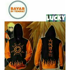 Beli Jaket Hoodie Zipper Anime Naruto Kyuubi Seal Best Seller Black Orange Nyicil