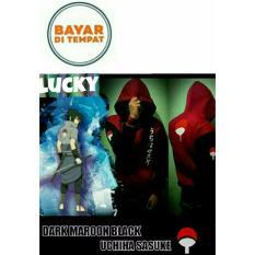 Toko Jaket Hoodie Zipper Anime Naruto Sasuke Uchiha Maroon Black Best Seller Lengkap Di Jawa Barat