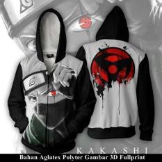 Jaket Hoodie Zipper Anime Naruto Style Hatake Kakashi Uchiha Itachi Full Print Best Seller Aduuh Diskon 40